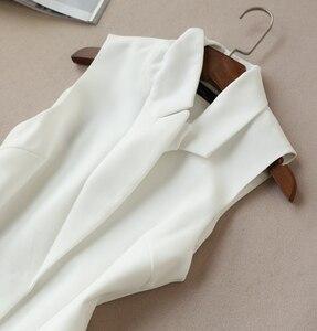 Image 4 - Spring and Autumn New Korean Suit Two Sets Tide Long Vest Jacket Wide Leg Pants Set Nine Pants Female 2 Piece Set Women