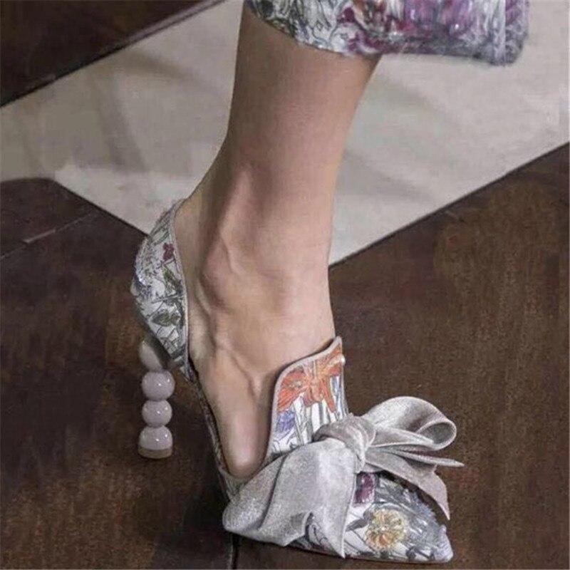 Pompes Chaussures Zapatos Feminino Partie Sapato Chaude Pic 2018 Mujer Sandalias Femme Slip Pointu As Bowtie Talons Bout Élégant Sur Sexy Perles Pic as xgqXqSat