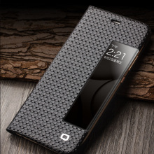 QIALINO Grid & Lizard Pattern Leather Case for Huawei P10, P10Plus
