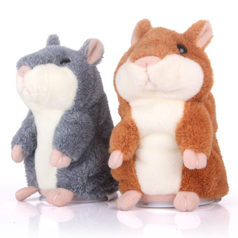 Talking Hamster Plyschleksak Hot Cute Speak Talking Sound Record Hamster Talking Toys för barn Barn Baby