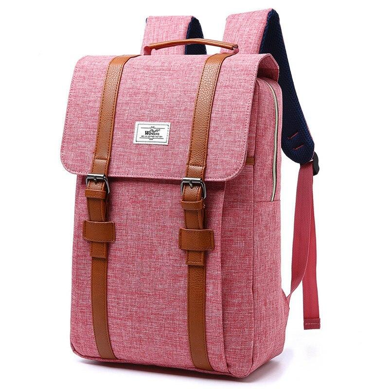 2018 Vintage Men Women Canvas Backpacks School Bags for Teenagers Boys Girls Large Capacity Laptop Backpack Fashion Men Backpack