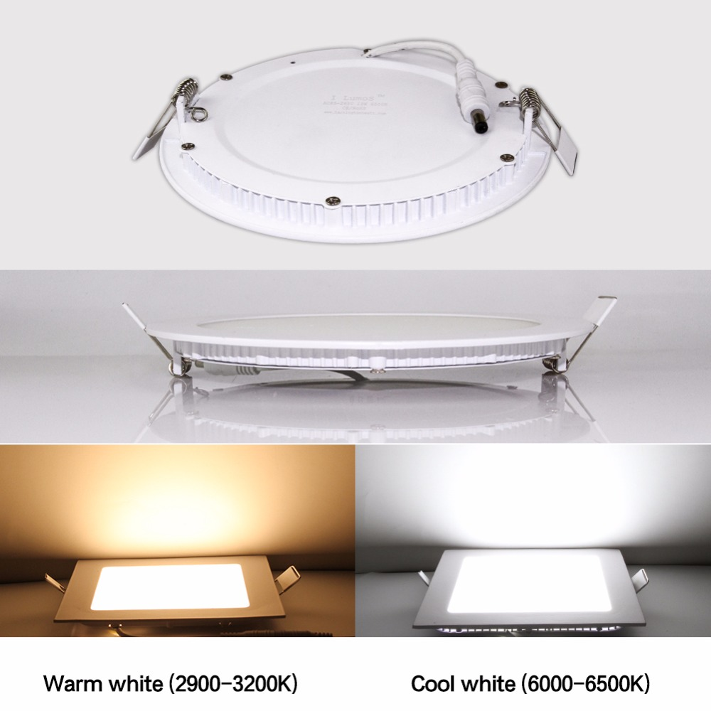 JJD 9W/12W/15W/18W/24W/ Round Panel LED Aluminum LED Panel Light Surface Mounted Downlight Recessed ceiling down lamp 110V 220V