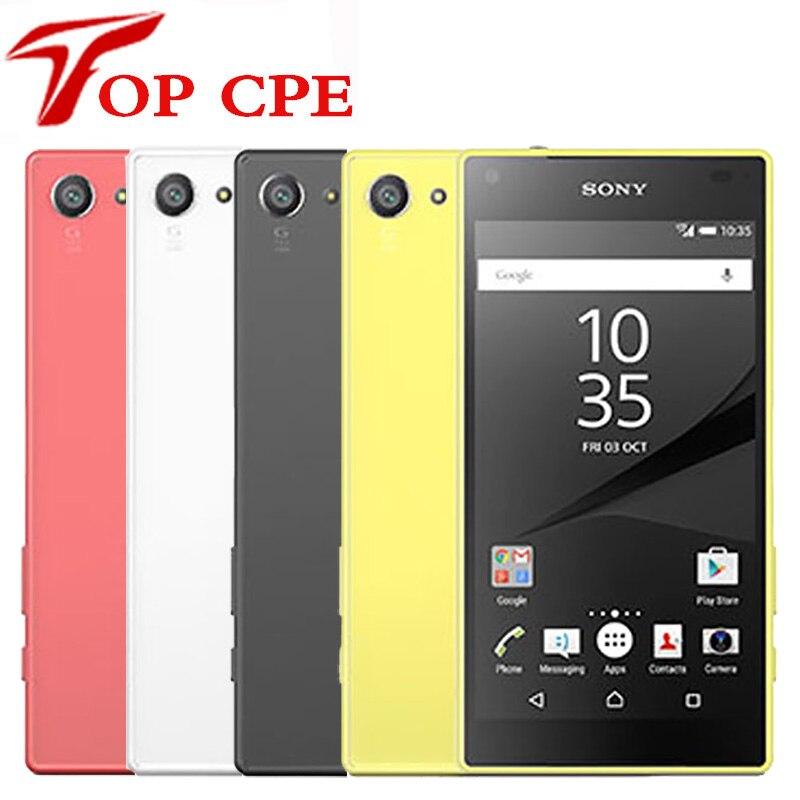 US $93 06 27% OFF|Original Sony Xperia Z5 Compact E5823 Unlocked z5 mini  RAM 2GB ROM 32GB Android 4 6 inch Octa Core 23MP 1080P Mobile Phone-in  Mobile
