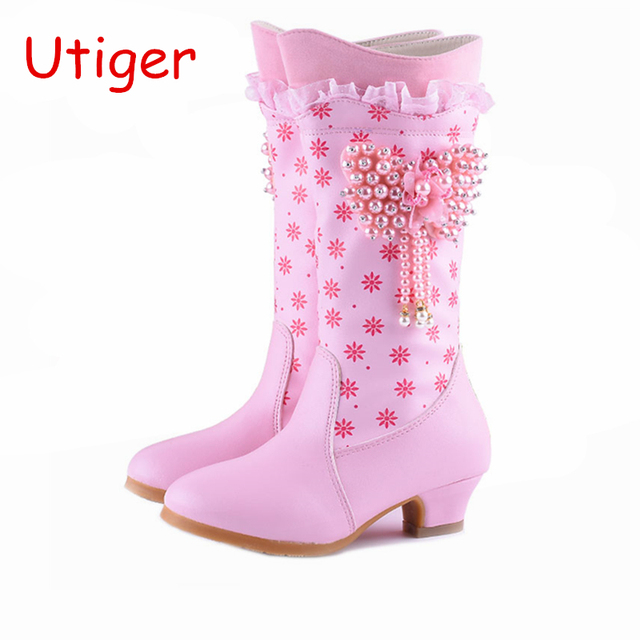 72318f990684d Kids Girl Snow Boots Children Girl Boot Winter Fur Winter Girls Princess  Shoes Kids Shoes brand waterproof boots Size 28-38