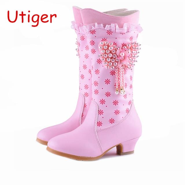 c7480d28c865e Kids Girl Snow Boots Children Girl Boot Winter Fur Winter Girls Princess Shoes  Kids Shoes brand waterproof boots Size 28-38