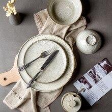 KINGLANG ceramics restore flame dishes, fruit plates, vintage bowl dish sets salad bowl dish tableware
