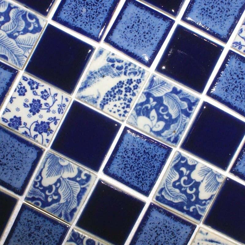 glazed porcelain tile kitchen backsplash cheap ceramic mosaic flooring adt114 blue and white bathroom mirrored wall stickers
