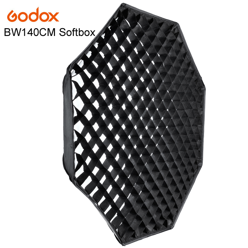 GODOX Studio Photography 140cm/55 Octagon Softbox with Grid Honeycomb Photo Soft Box Bowens Softbox with Carrying Bag new 6 holes pu leather billiards pool cues case billiard accessories china 85cm length