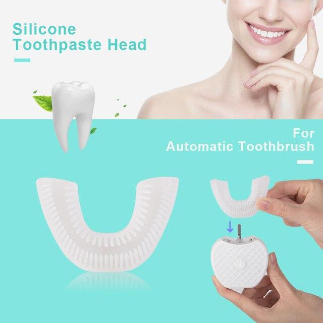 360 ° automático sónico eléctrico cepillo de dientes boca bandeja inteligente U tipo automático cepillo de dientes pieza de boca