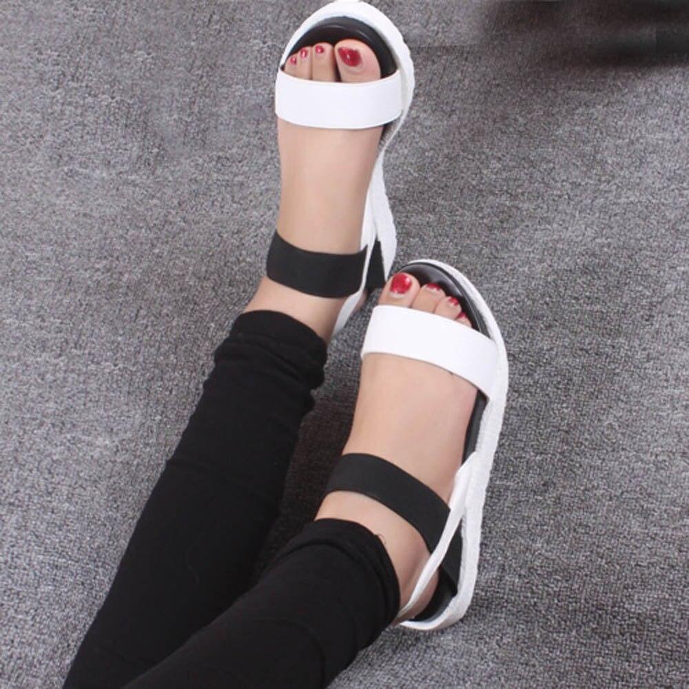 Verano Sapato plata Bajo Sandalias Negro Femenino Las A8 Niñas Señoras Mujeres Romano Calzado toe Zapatos Peep De 4AFrnB4