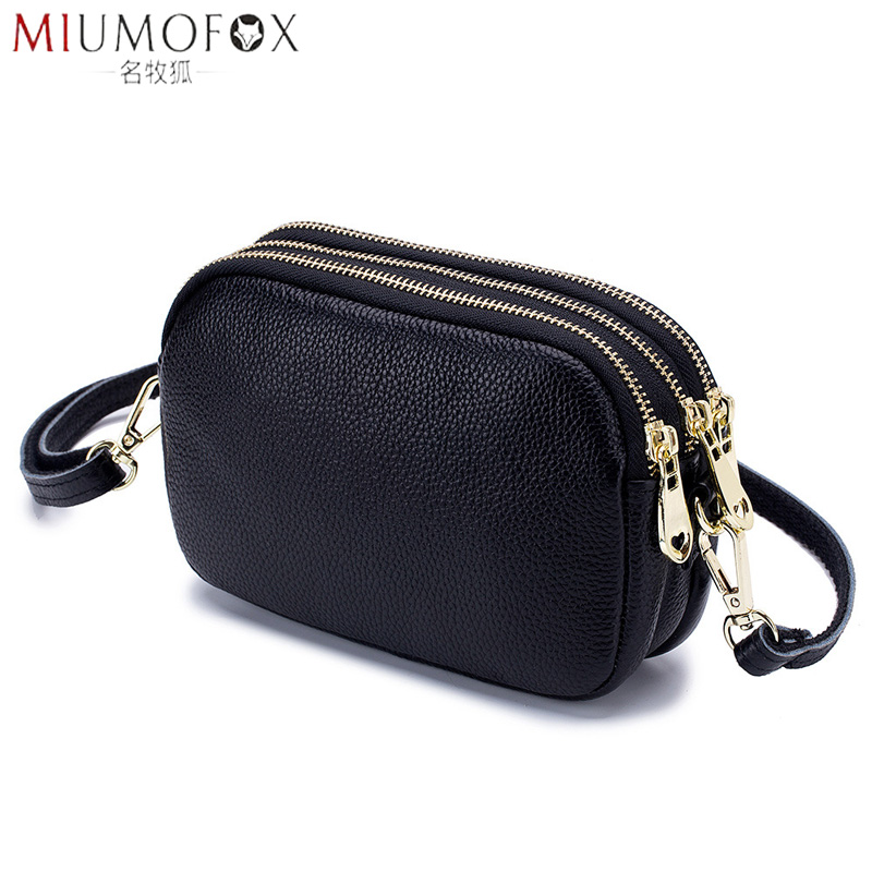 New Fashion Shoulder Bag Woman Genuine Leather Handbag High Quality Luxury Ladies Small Red Soft Original Leather Messenger Bag