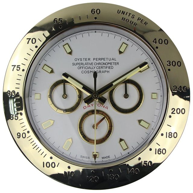 1Piece Free Shipping Luxury DiamondMetal Watch Shape Wall Clocks with Silent Mechanism