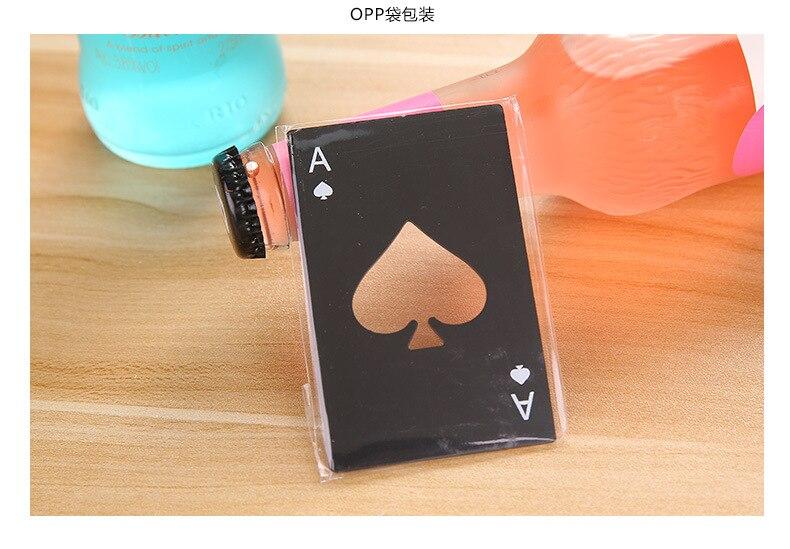 100 pièces bière noire ouvre bouteille Poker carte à jouer Ace de pique Bar outil Soda bouchon ouvre cadeau cuisine Gadgets outils - 2