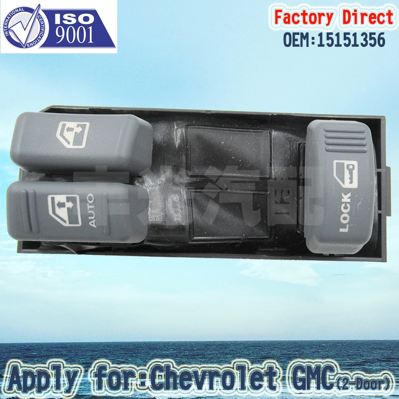 Factory Direct Auto Power Master Window Switch Apply For Chevrolet GMC 2-door 15151356 13Pins