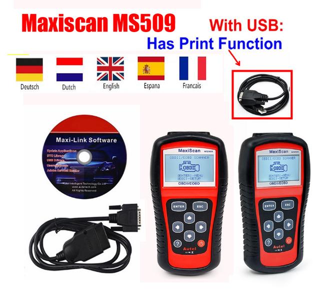 Autel MaxiScan MS509 Auto Car Scanner OBDII/EOBD OBD2 auto Code Reader Work For US&Asian&European Car Scanner PK KW808
