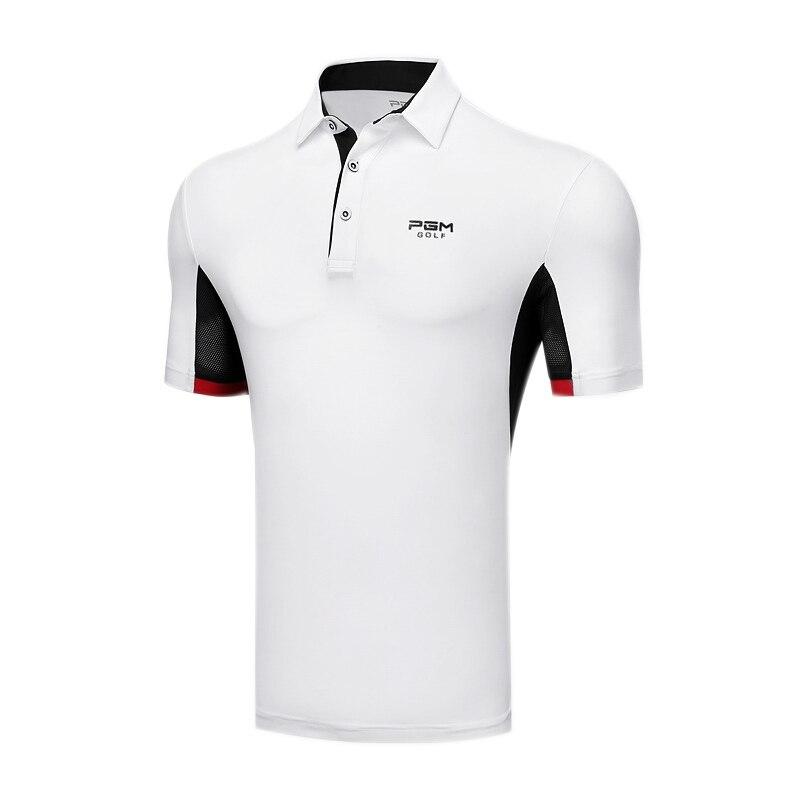 2019 Mens Golf Shirt Short Sleeve Breathable Golf Clothing Men Sportswear Sport Golf Wear Turn Down Collar Sportwear Quick Dry
