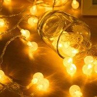 100pcs Ball Leds 10M Led String Light L AC220V Holiday Wedding Patio Decoration Lamp Festival
