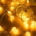 100 unids bola Led 10 M Luz Led de Cadena l patio de iluminación del día de fiesta de la boda decoración del Festival de la lámpara luces De Navidad al aire libre iluminación