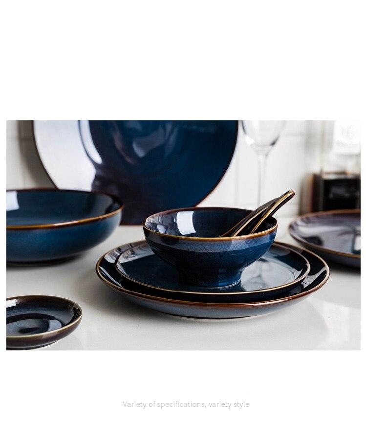 mesa europeu retro vitrificado louça cerâmica porcelana