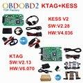 Conjunto completo V4.036 V2.28 + V2.13 Maestro KTAG KESS V2 KESS OBDII Kit gerente Sintonía No Tokens V6.070 K-TAG K TAG ECU Programador Herramienta