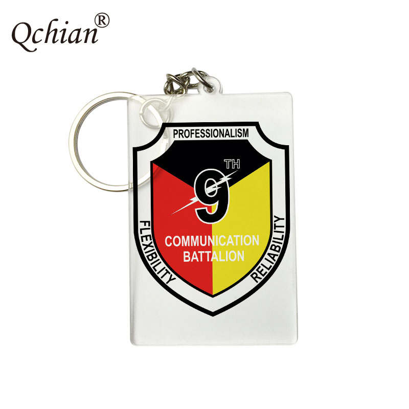 The 9th Company Print Keychains Holder Ring Charm Jewelry drop-shipping