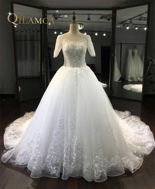 Vestido De Noiva 2017 Robe De Maria Nuevo blanco / marfil tul de - Vestidos de novia