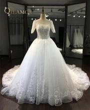 Vestido De Noiva 2017 Jubah De Maria Baru Putih / Gading Tulle Lace Beaded A-Line Gaun Pengantin 2017 Gaun Pengantin