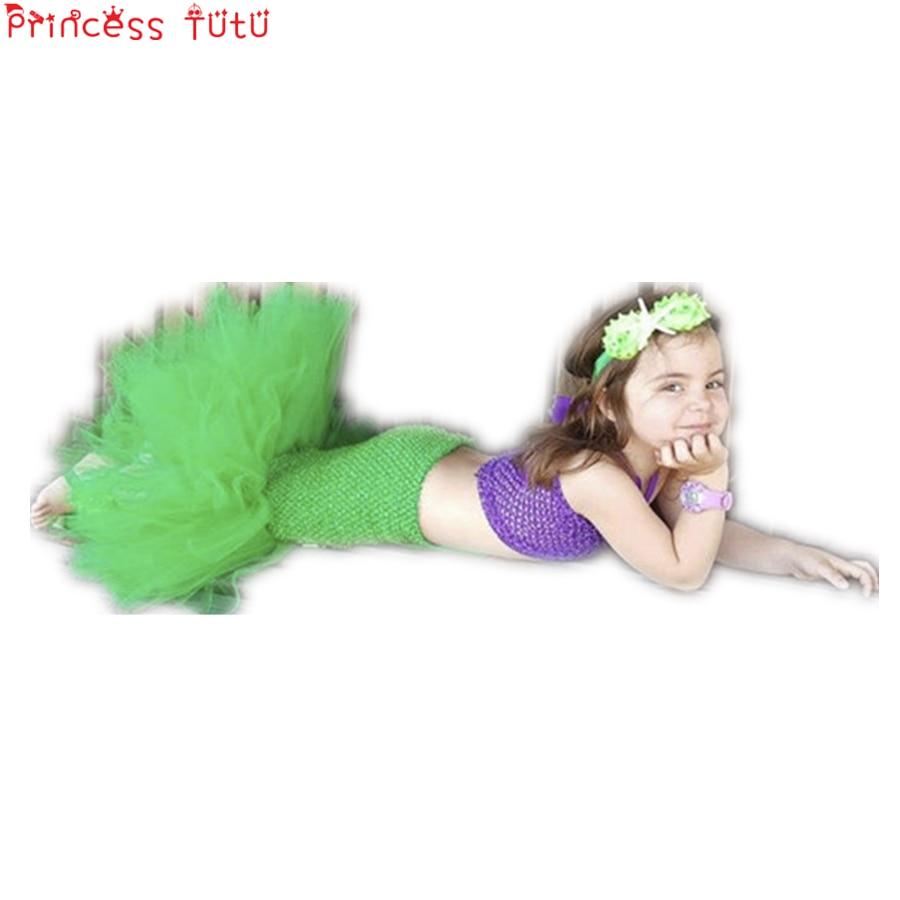 1356 40 De Descuentoprincesa Tutú Ariel Vestido La Sirenita Disfraces Para Niñas Vestido Ropa Para Niños Halloween Cosplay Sirena Cola Traje