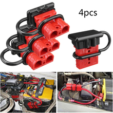 4PCS/LOT Red Color 600V 50A Battery Trailer Charge Plug Quick Connect Disconnect Tool Winch Electrical Wire Harness Connector