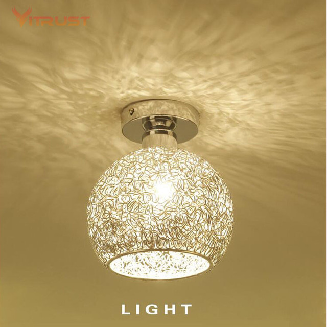 Clical E27 Surface Mount Led Ceiling Lamp Mini Light Energy Saving Dome Chrome