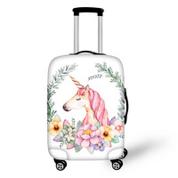 THIKIN Cartoon Unicorn Luggage Cover Stretch Waterproof Suitcase Covers Stretch Trolley Case Dustcover for 18 30inch Suitcase