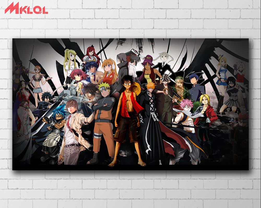HD Anime Wall Art Canvas Japan Naruto One Piece Poster ...