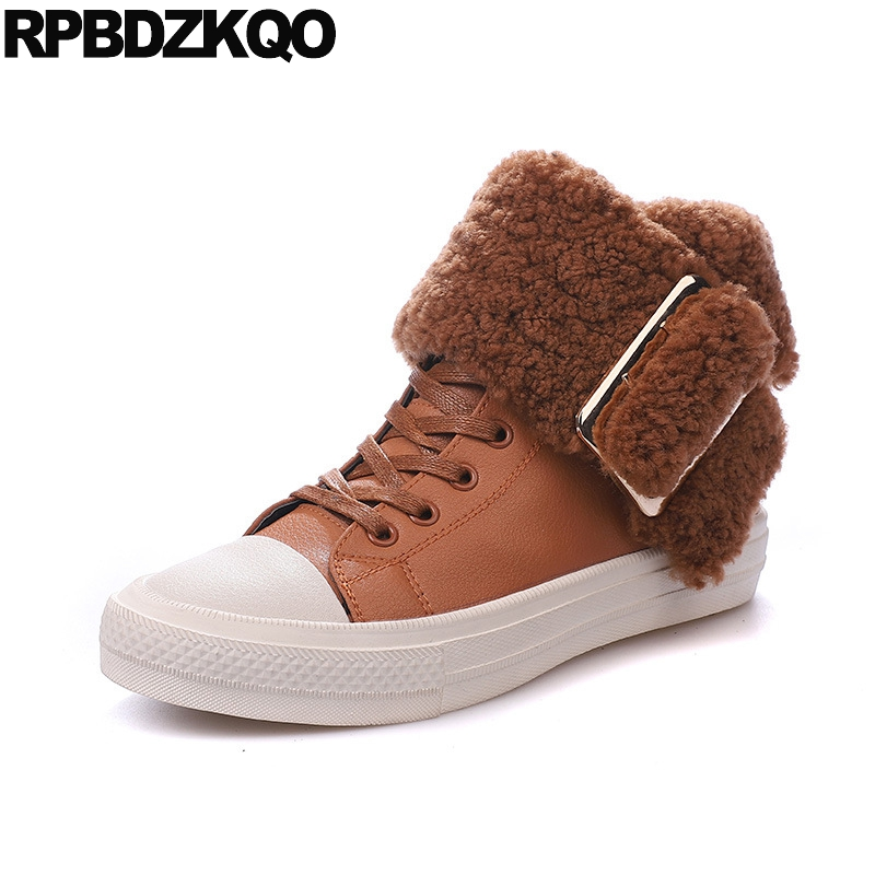 Sneakers Ankle Winter Furry Platform Brown Booties Fur Shoes Comfortable Lace Up Women Boots 2016 Round Toe Flat Ladies Chinese suede british chelsea platform booties shoes fall ankle thick round toe chunky brown front lace up casual boots autumn fashion