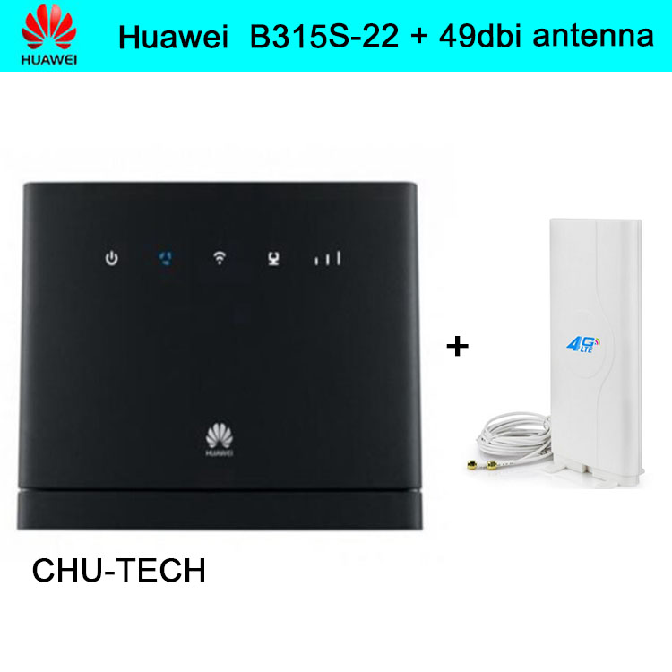 Unlocked Huawei B315 B315s-22  with 35dbi antenna 4G FDD 800/900/1800/2100/2600Mhz TDD 2600Mhz Router