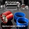 Universal Turbo Único Fan Air Intake Fuel Saver Fan Turbonator Tornado Vermelho