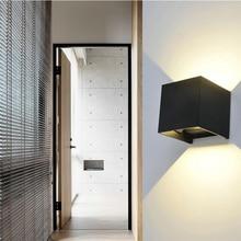JAXLONG Modern LED Outdoor Wall Lamp IP65 Waterproof White Black Sconce Wall light Exterior Home Lighting Fixtures Dining&Bar