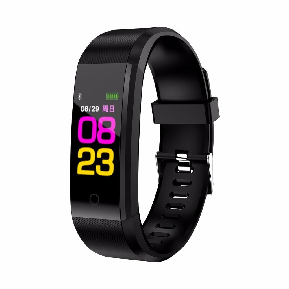 B05 TFT0.96 pulgadas de pantalla color presión arterial Monitor pulsera inteligente podómetro deportes fitness pulsera para ios/android