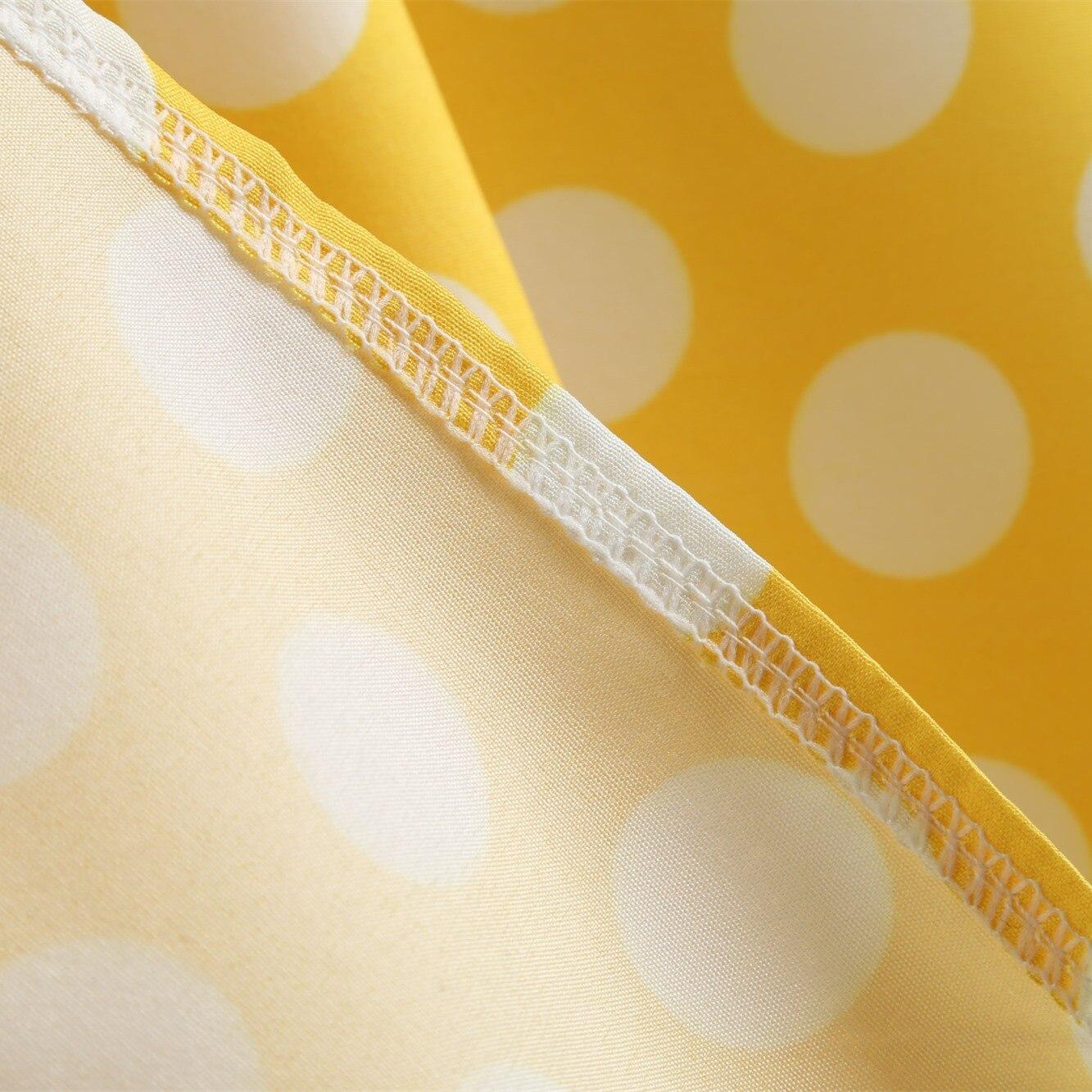 Bebovizi New 2018 Yellow Wave Point Women 39 s Dress Mesh Stitching Summer Sleeveless Party Elegant Audrey Hepburn Midi Dresses in Dresses from Women 39 s Clothing