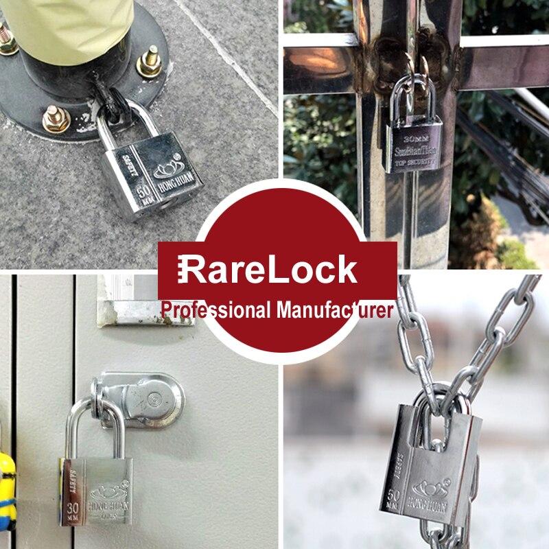 Rarelock MS538 Steel Padlock for Garden Gate Home Door Car Security Bike Motor Anti theaf Gym Locker Outdoors Cabinet Mail Box h
