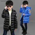 Brand Winter jacket Kids Boys Keep Warm Snow Wear Black Blue With Wings Good Quality Cotton Outdoor Clothes 14 Years Freeship