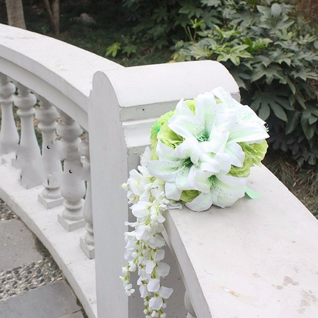 Romantic Beach Artificial Flower Wedding Bouquets For Brides Bridesmaid Hand Holding Flowers Bridal Bouquet