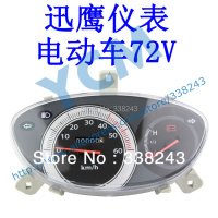 Electric Scooter 72V Instrument Motorcycle Speedometer Tachometer Meter Sensor YB XY DD 72V Wholesale YCM Drop Shipping