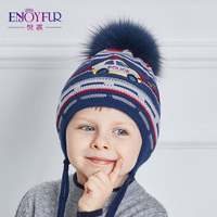 Disfrutar Pieles de animales Otoño Invierno sombreros para niños de espesor  caliente Boy CAPS con Fox 36aac75d921