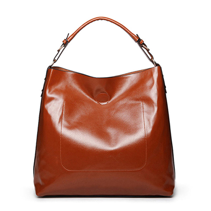 Hot Sale Women Leather Handbags Totes Fashion Large Ladies Bags Vintage Casual Women's Shoulder Bags Brand Composite Bag Tote