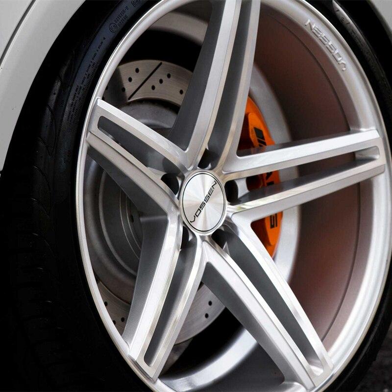 Image 5 - Серебряный Vossen 56 мм 60 мм изогнутые колеса Центр крышка наклейка знак, наклейка на автомобиль для VOSSEN диски оптом стикер, колпак-in Наклейки на автомобиль from Автомобили и мотоциклы
