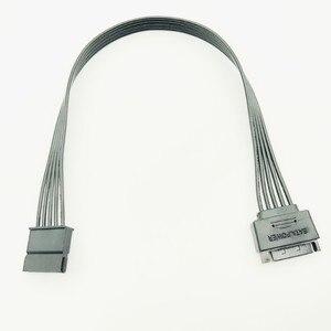 Image 2 - 30 CM czarny pojedynczy rękaw SATA 15Pin męski na żeński przedłużacz kabla HDD SSD moc kabel zasilający SATA kabel zasilający dla PC nowy