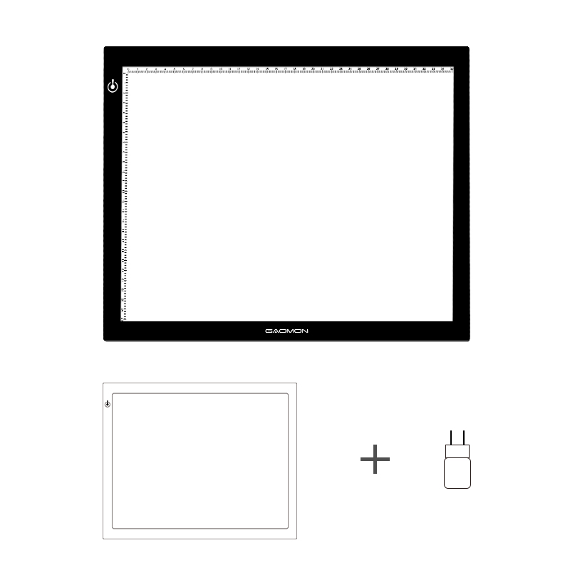 Nuevo gaomon GB4 luz LED 5mm luz ultrafina pad USB arte tracing Board para boceto y copia con adaptador de la UE