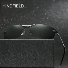 Hindfield Brand Polarized Men's Vintage Sunglasses oculos de sol masculino Business Fishing oculos Eyes Goggles For Male Glasses