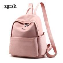 Backpack Purse For Teenage Girls Women Korean Style Solid Nylon Black Preppy Style School Bags Backpacks For Teenagers Rucksack