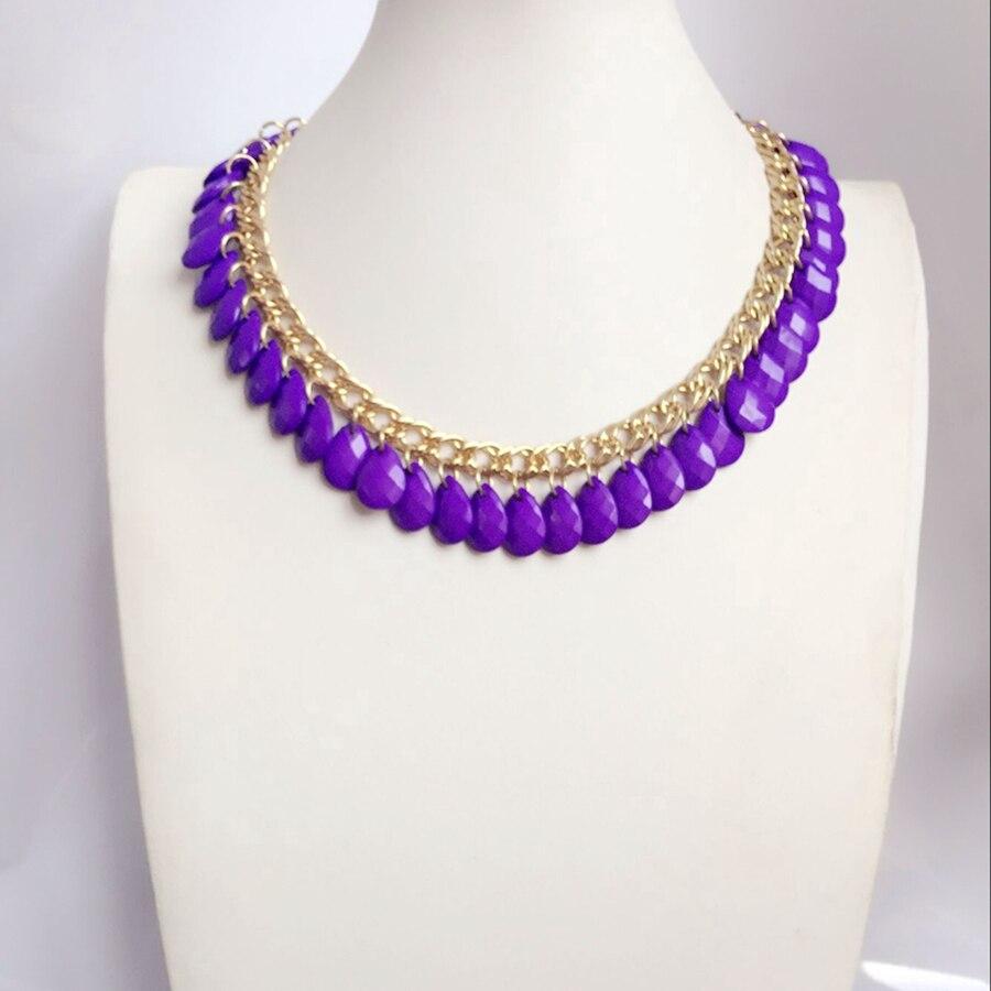 Kraftvoll Lila Elegante Einfache Perlen Mode Nette Süße Halskette